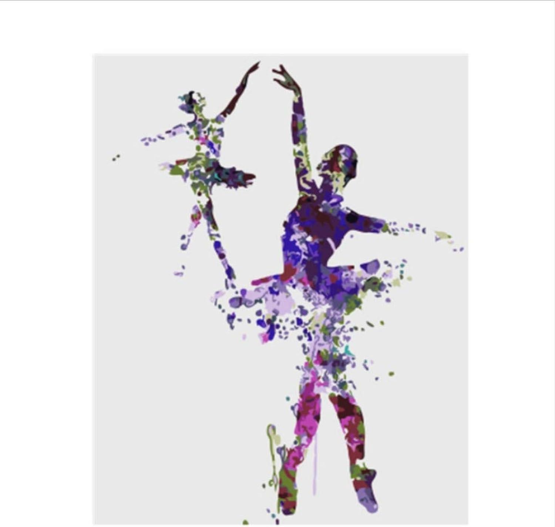 CZYYOU Bild Ballett Mädchen DIY Malen Nach Zahlen Bunte Bild Home Decor Für Wohnzimmer Hand Einzigartige Geschenke 40x50cm-Ohne Rahmen B07PQRZ5L1 | Düsseldorf Online Shop
