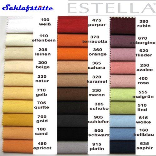Estella Mako Jersey hoeslaken 120/200 chocolade