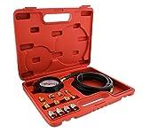 ABN Engine Oil Pressure and Transmission Fluid Diagnostic Tester Tool Kit – 500 PSI / 35 Bar Gauge, Hose, and Adapters