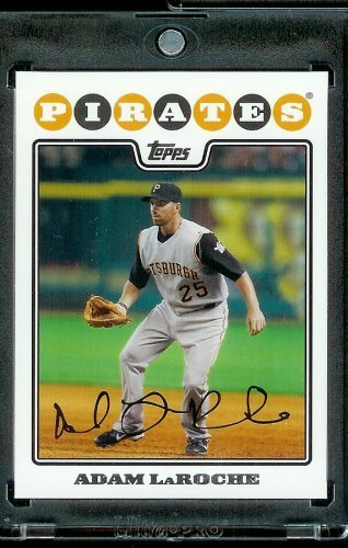2008 Topps # 633 Adam Laroche - Pittsburgh Pirates - MLB Baseball Trading Card