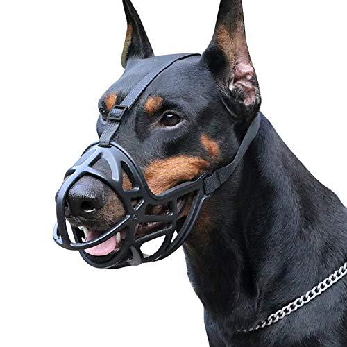 YAOUFBZ Bozal de Canasta para Perros Bozal de Perro Bozal de Perro Hocico canino con cinturón Ajustable,Malla Transpirable de Nailon Duradero Puede prevenir morder,Masticar,Respirable