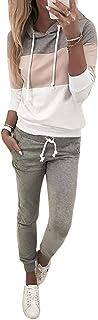 ORANDESIGNE Femmes 2 Pièce Survêtement Combinaison Sweats à Capuche Sweatshirts + Pantalon Joggers Ensemble de Sport Suit