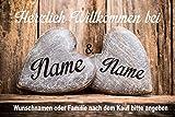 Creativ Deluxe Willkommen Fussmatte m. Wunschnamen - Fussmatte bedruckt Türmatte...