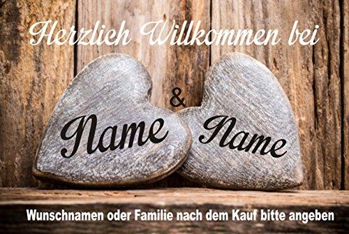 Creativ Deluxe Willkommen Fussmatte m. Wunschnamen - Fussmatte Bedruckt Türmatte Innenmatte Schmutzmatte lustige Motivfussmatte