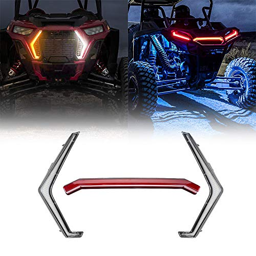 RZR XP 1000 Fang Accent Light Kit, kemimoto IP67 Front RZR Street Legal Light Kit Turn Signal light and Rear RZR Center Taillight Compatible with 2019 2020 2021 Polaris RZR XP 1000 Turbo # 2884053