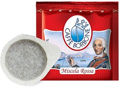 Dosettes en papier de café Borbone 44 ESE, mélange rouge bleu or noir au choix. 600 Rouge