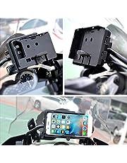 fervory Soporte para Móvil para BMW R1200GS Soporte De Navegación para Teléfono Móvil ADV F700 800GS CRF1000L para Honda Motocicleta Carga USB Montaje De 12 Mm