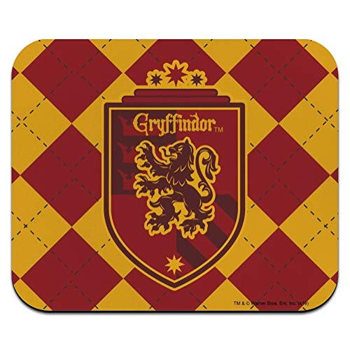 Harry Potter Gryffindor Plaid Sigil Low Profile Thin Mouse Pad Mousepad