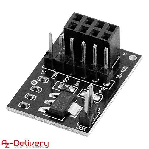 AZDelivery NRF24L01 Wireless RF Transceiver Modul 2,4 GHz mit 8Pins kompatibel mit Arduino!