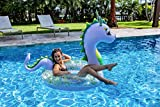 Poolcandy Jumbo 48' Dragon Pool Tube, Stylish, Ultra Durable, Easy-Inflate PVC Pool Tube, Great for Pool, Beach, Lake, River, Perfect for Kids and Adults