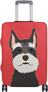 Mydaily Schnauzer Dog Luggage Cover Fits 29-32 Inch Suitcase Spandex Travel Protector XL