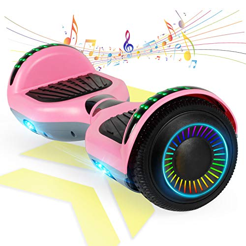 "FLYING-ANT Hoverboard w/Bluetooth Electric Self Balancing Scooter Two 6.5"" Flashing Wheels UL2272 Certified Favorite Pick for Kids Adult Outdoor Sports Easy to Ride"