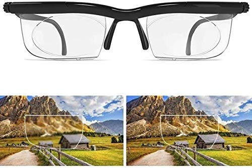 Dial Vision Adjustable Focus Glasses Reading Glasses,for Nearsighted Farsighted