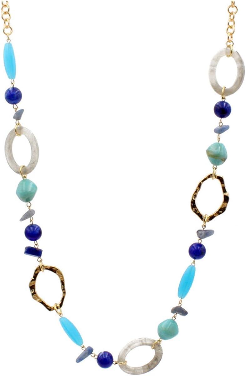 Shineland Handmade Long Strand Chunky Jelly Colored Acrylic Beaded Fashion Necklaces