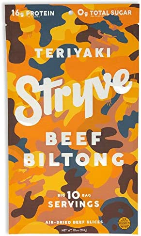 Stryve Biltong Beef Jerky without the Junky 16g Protein Sugar Free No Carbs Gluten Free No Nitrates product image