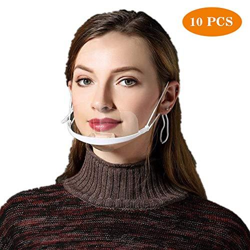 Gesichtsvisier aus Kunststoff,10 Stück Schutzvisier in Transparent Safety Universal Gesichtsschutzschild Kunststoff Visier Gesichtsschutz Schutzvisier Visier zum Schutz Face Shield für Mund Nase