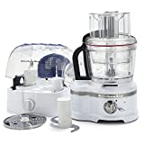 KitchenAid 16-Cup Food Processor w/Die Cast Metal Base & Commercial-Style Dicing Kit KFP1642SR Pro Line Series, Sugar Pearl Silver