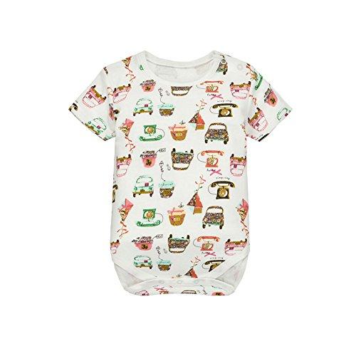 CuteOn Unisexe Bébés Garçons Filles Coton à Manches courtes Romper Jumpsuit Bodysuit 11 Téléphone 9 Mois