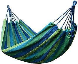 Draagbare Hangmat Buiten Reizen Tuin Camping Hangmat Slaapzaal Tuin Hangmat Schommel Hangende Stoel blauw