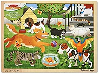 Melissa and Doug Pets at Play Wooden Jigsaw Puzzle 24 pieces