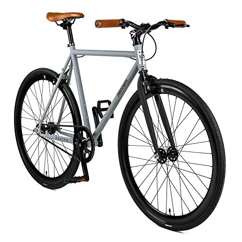 Retrospec Mantra Fixie Bike, Single-Speed/Fixed Gear Urban Commuter Bicycle with 28C Tires, KMC Chain, and deep-V Alloy Rims