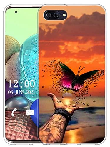 Sunrive Kompatibel mit Ulefone Gemini Pro Hülle Silikon, Transparent Handyhülle Schutzhülle Etui Hülle (X Schmetterling)+Gratis Universal Eingabestift MEHRWEG