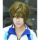 LanTing Cosplay Perücke Free! Swim Club Makoto Tachibana Perücke Corta Linen Green Cosplay Party...