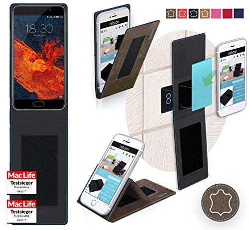 reboon Hülle für Meizu Pro 6S Tasche Cover Case Bumper | Braun Wildleder | Testsieger