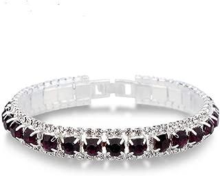 SHOULANlija Top Sale 925 Sterling Silver Bracelets Full AAA Zircon Austrian Crystal Femme Women Link Chain Jewelry Bangles 14 Colors