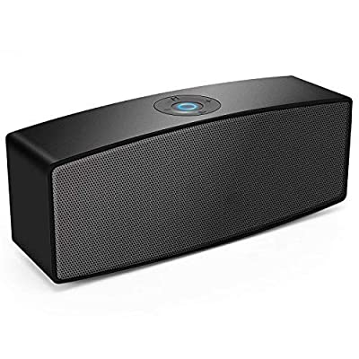 Portable Bluetooth Speakers,Dual-Driver Wireless USB Speaker with Surround Stereo Sound and Built-in-mic,for PC Computer Laptop iPhone and Android … (Black)
