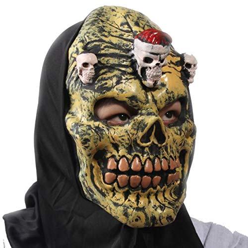 BB67 Máscara de Halloween para disfraz de terror con cara sangrienta, regalo para niños y amigos, decoración de Halloween para el hogar