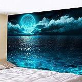 WERT Tela de Fondo de Tapiz para Colgar en la Pared de la Familia del mar con impresión 3D para decoración de Dormitorio y Sala de Estar A5 73x95cm