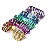 Schramm 6 Stück Partybrille metallic 6 Farben Partybrillen Bunt Gitterbrille Spaß Spass Brille...