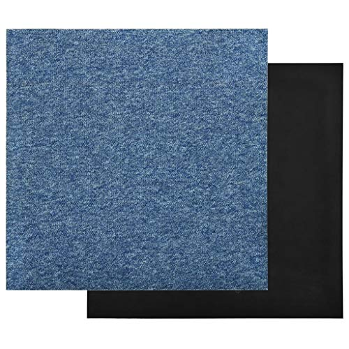 vidaXL 20x Baldosas de Suelo de Moqueta Lamas Azulejo Salón Sala de Estar Cocina Antiestático Ignífugo Impermeable Antideslizante 5 m² Azul