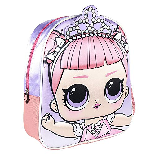 CERDÁ LIFE'S LITTLE MOMENTS - Mochila Infantil LOL Surprise en 3D - Licencia Oficial LOL Surprise, Multicolor (2100003015_)