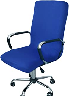 Funda para silla de escritorio de Zyurong, extraíble, lavable, protección para tu silla de oficina, giratoria y de escritorio, tamaño S (solo incluye la funda), azul, Medium