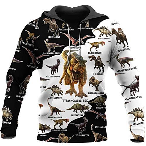 Dinosaur Pattern 3D All Over Printed Hoodie Sudadera para Hombres/Mujeres Jersey Animal