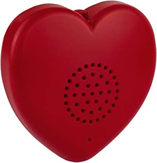 Talking Products, Teddy Bear Talking Heart Recorder MP3 Player, 8 Minutes of Recordable Messages. Red. Create Your own Rec...