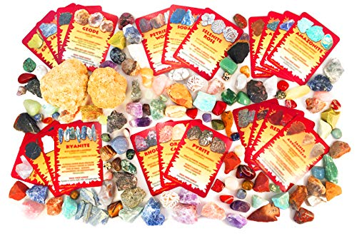 iLaughnLearn Rock My World! Rock & Mineral Collection with Educational, Trading-Style Cards