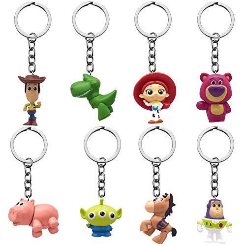BAIBEI 4 Piezas Toy Story Llaveros,Película Figura de acci�
