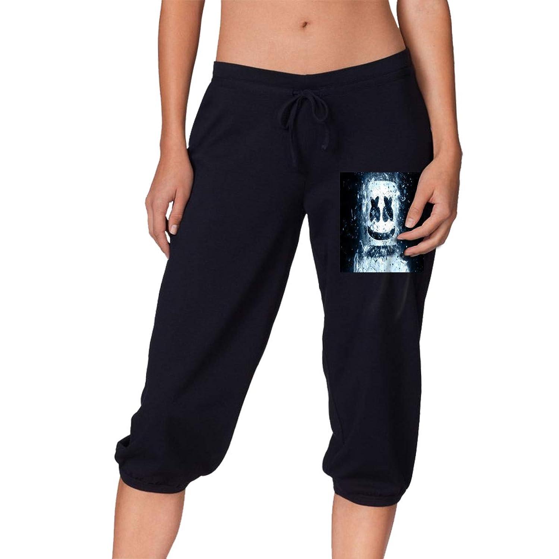 夏、春、秋、女の子7点丈パンツ Marshmello レディース スポーツズボン、スポーツ、ランニング、ショッピング、ショッピング、学校、フィットネス運動