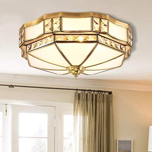 GJY Iluminación Moderna en Toda Europa Lámparas de Techo de Cobre Salón Dormitorio Comedor Pasillo de Iluminación Luces