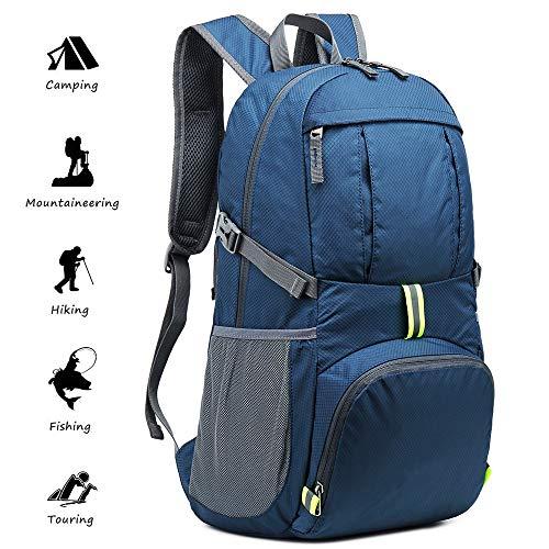 Netspower Zaino da Escursione 40L, Zaino da Viaggio Leggero e da Trekking, Materiale è Impermeabile, per Ciclismo da Viaggio/Arrampicata/Sportiva/da Campeggio All'Aperto