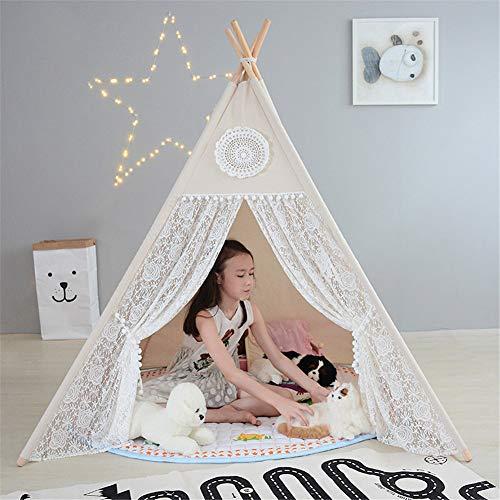 Lvbeis Teepee Indiana Bambini Tent Tenda In Legno In Cotone Canvas Per Interni O Esterni