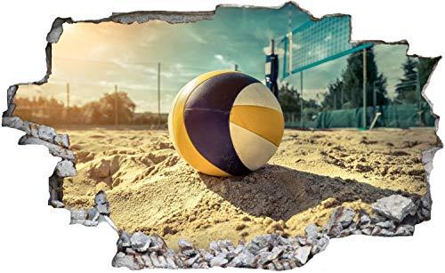 DesFoli Volleyball Beach Strand Sand Ball Wandtattoo Wandsticker Wandaufkleber C2392 Größe 70 cm x 110 cm