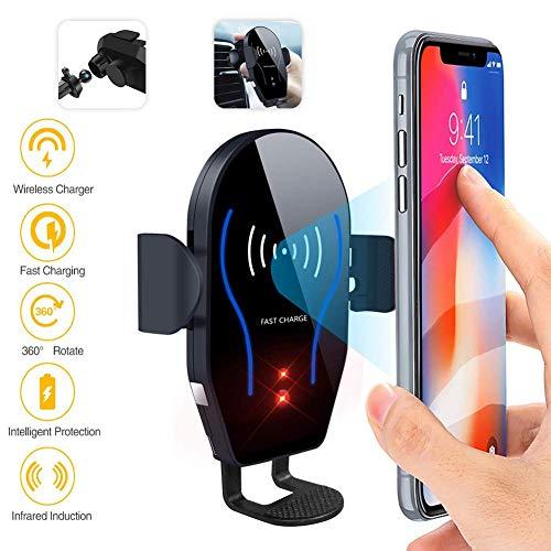 Draadloze oplader voor de auto, zelfgreep-mobielhouder voor de auto-oplader compatibel met iPhone XS maximaal, XR, XS, X, Samsung Galaxy S6, S9, S8, S7 rand, Note 9