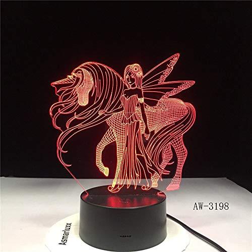 jiushixw 3D acryl nachtlampje met afstandsbediening kleurverandering tafellamp paard is hand witgoud en goud en groen oplossing gepolijst gat goud lounge white tafellamp