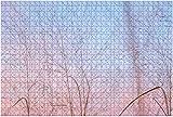 1000 piezas, parcialmente nublado, rosa pastel y púrpura, luz del atardecer con cielo azul sobre rompecabezas de madera, rompecabezas educativos para niños de bricolaje, regalo de descompresión para
