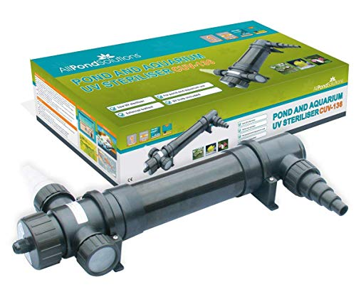 All Pond Solutions CUV-136 UV Light Steriliser/Clarifier Filter, 36 W