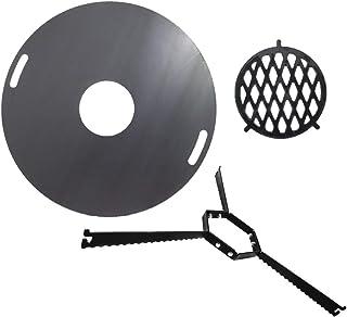 A. Weyck Tools Komplettset Feuerplatte 80cm  Abstandshalter  Grilleinsatz BBQ Grill Plancha Starter Set #200